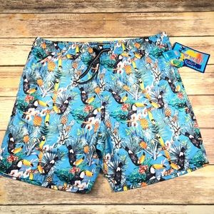 🌊NWT Surf Society Swim Trunks